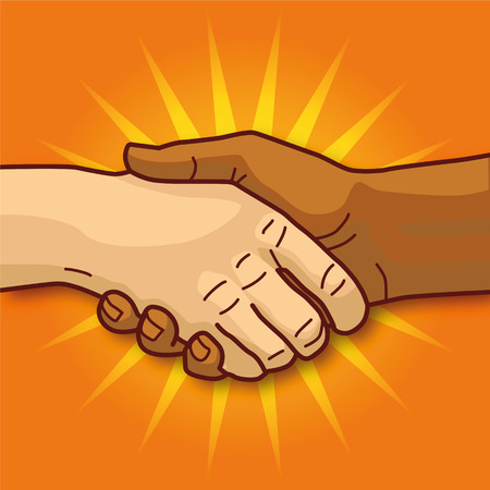 office force: Shaking hands Illustration