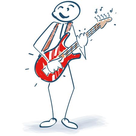 Stick figure with guitar Illustration