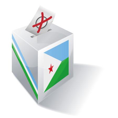 absentee: Ballot box Djibouti Illustration