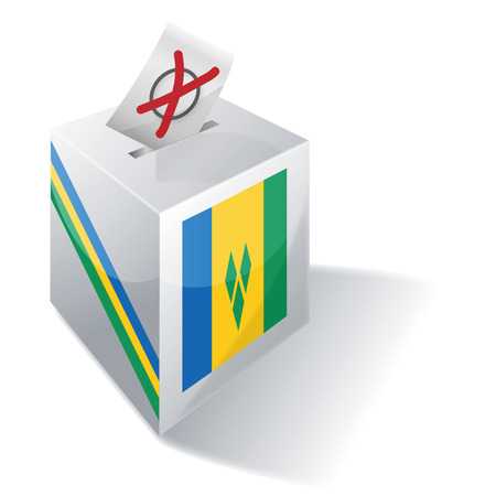 voting rights: Ballot box St. Vincent and the Grenadines Illustration