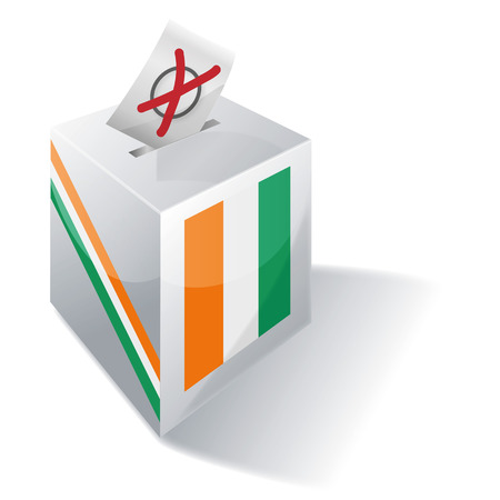 voting rights: Ballot box of the Ivory Coast Illustration