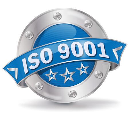 Button ISO 9001 Illustration