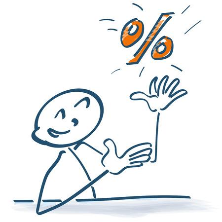 incidence: Stick figure with percentage
