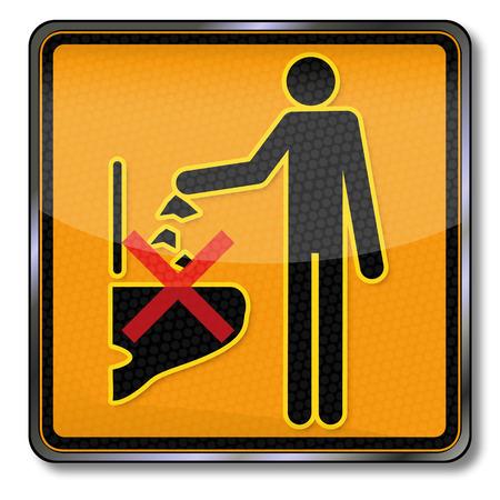 accident woman: Muestra de la prohibici�n por favor, no tirar basura en el inodoro