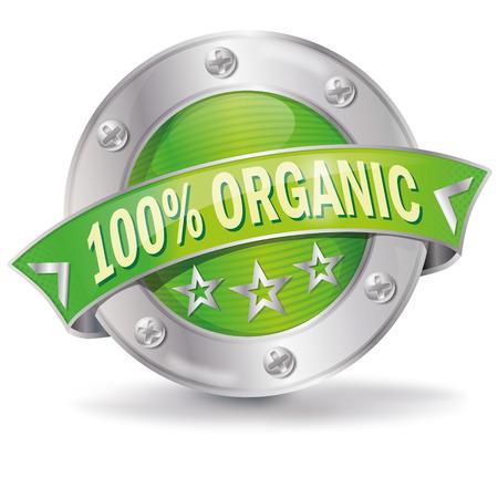 range fruit: Button  illustration  100 organic