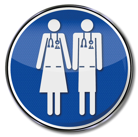 examiner: Sign with doctor doctor and equality Illustration