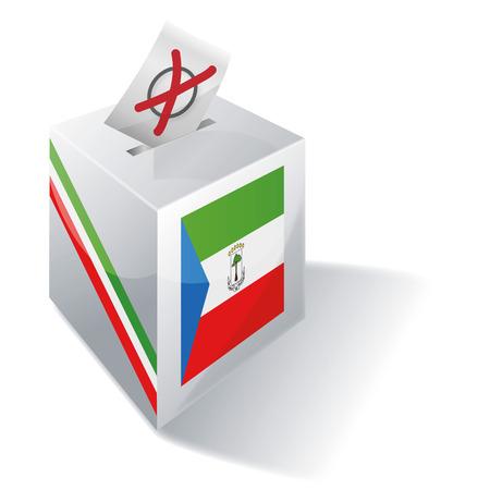 guinea equatoriale: Casella di scheda elettorale Guinea Equatoriale Vettoriali
