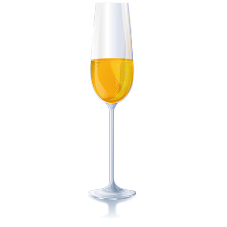 A glass of sparkling wine Vector