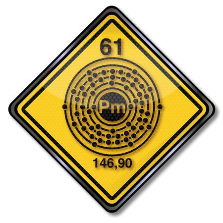 subareas: Sign chemistry character promethium Illustration