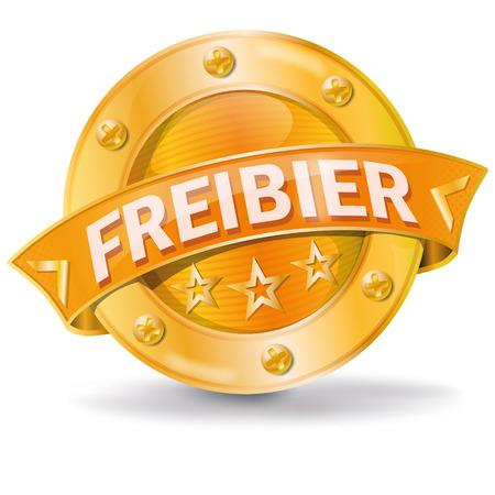 Button freebeer Vector