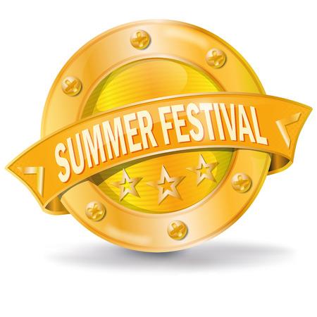 fortunately: Button Summer Festival Illustration