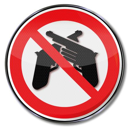 dictature: panneau d'interdiction des armes et de la violence