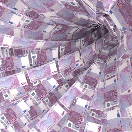 debt trap: Money vortex of 500 euro notes