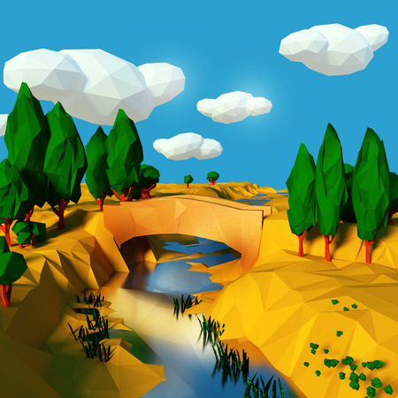 new way: Bridge over the river in the dry south