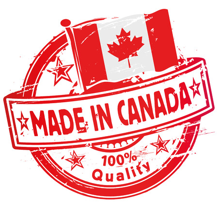 canada stamp: Rubber stamp made in Canada