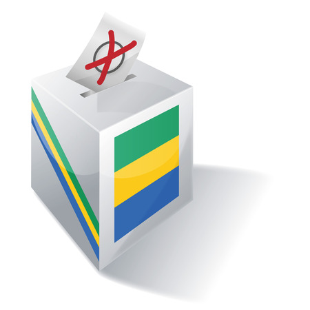 voting rights: Ballot box Gabon