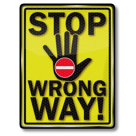 uprzejmości: Znak stop niewłaściwy sposób Ilustracja