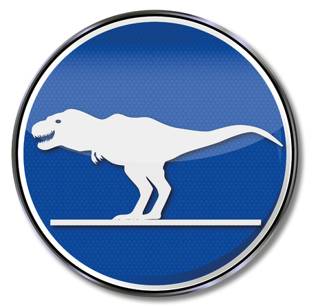 biomechanics: Sign with Tyrannosaurus in space Illustration