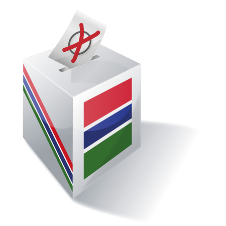 voting rights: Ballot box Gambia