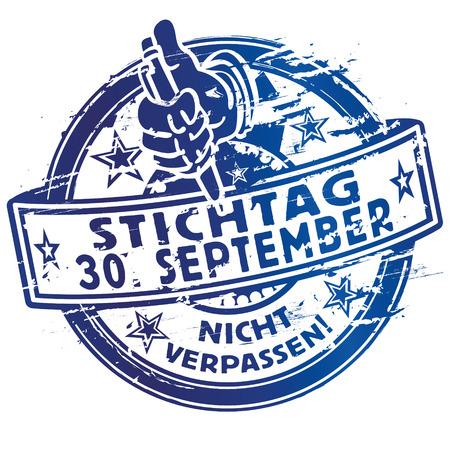 30: Rubber stamp deadline 30 September Illustration