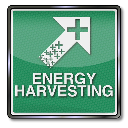 alternative energy sources: Shield energy harvesting and small energy Illustration