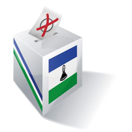 enclave: Ballot box Lesotho