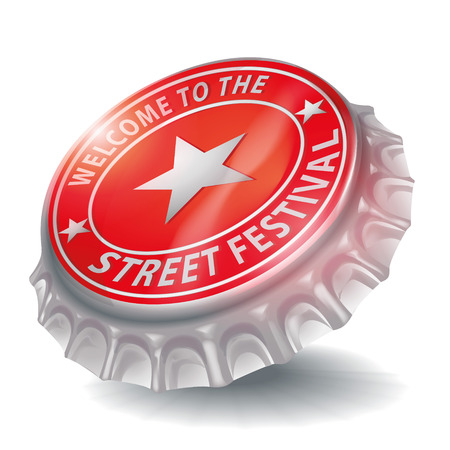 blatt: Flaschenverschluss willkommen in der Straßenfest