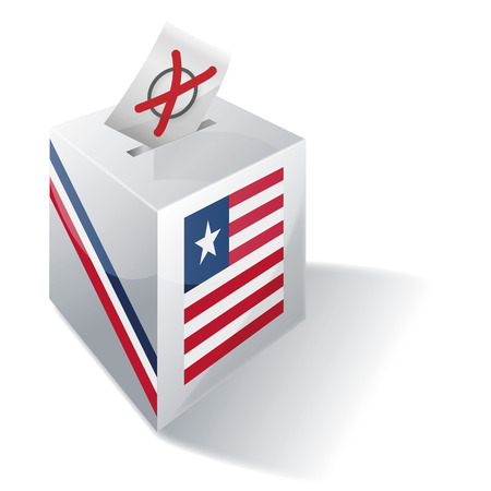 voters: Ballot box Liberia Illustration