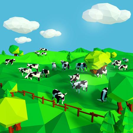 vaca: Vacas en el prado