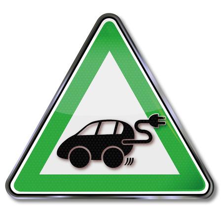 alternatively: Shield power car a new alternative for traffic Illustration