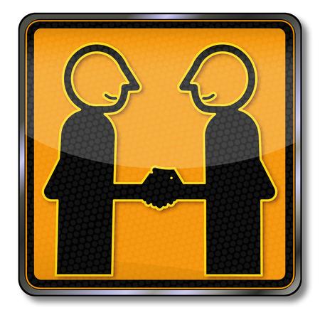 dandose la mano: Proteja amigos cuando dar la mano Vectores