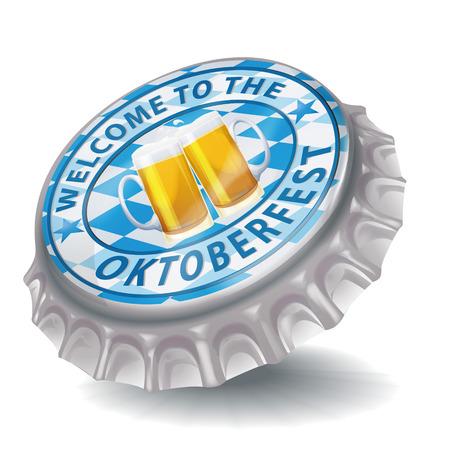 steins: Bottle cap welcome to the Oktoberfest
