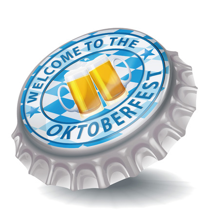 Bottle cap welcome to the Oktoberfest