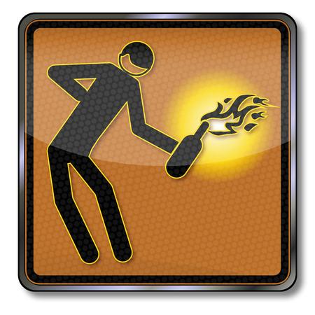 dictature: Connectez-vous avec soul�vement, la d�monstration et cocktail molotov Illustration