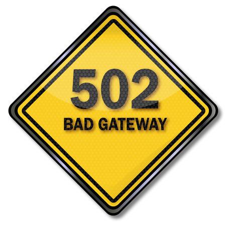 positives: Computer plate 502 bad gateway