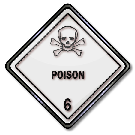 toxic accident: Danger sign with skull 6 and toxic