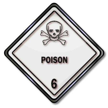 inhalacion: Muestra del peligro con el cr�neo 6 y t�xico