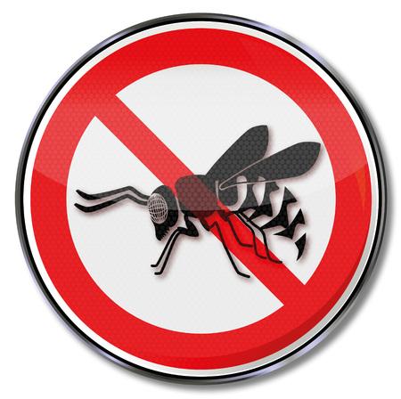 interdiction: Panneau d'interdiction pour les guêpes Illustration