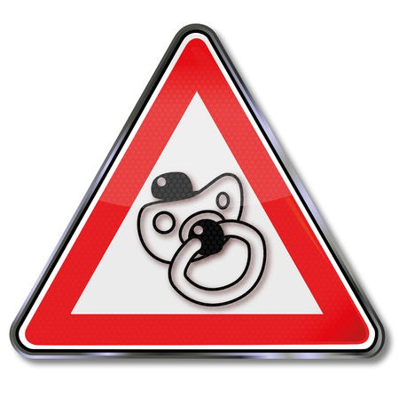 ingestion: Sign with pacifier and childrens bedrooms