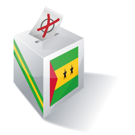voting rights: Ballot box Sao Tome and Principe