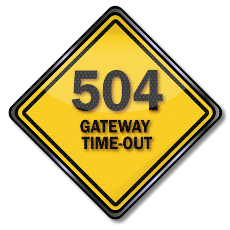 Computer plate 504 Gateway Time-out