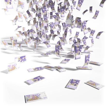 speculating: Money rain of 20 Swedish kronor bills