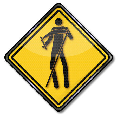 fieldwork: Sign with grim reaper Illustration