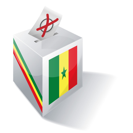voting rights: Ballot box Senegal Illustration