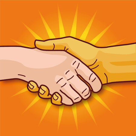commonality: Shaking hands and economic cooperation