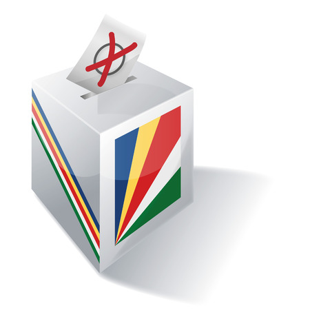 voting rights: Ballot box Seychelles Illustration