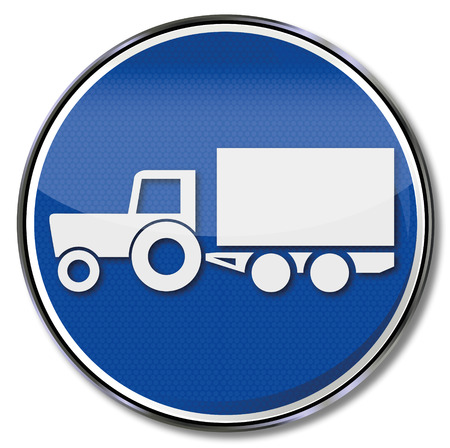tractor warning: Shield executor, trailers, harvesting and transport