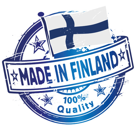 made in finland: Rubber stamp made in Finland