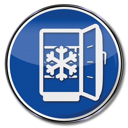 defrost: Shield with a fridge, defrost and ice
