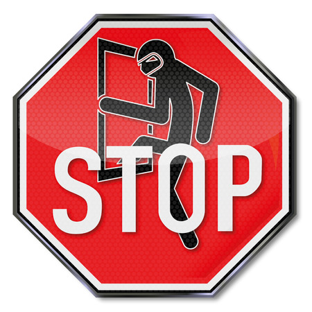 accident rate: Stop sign for burglars